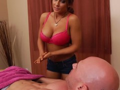 His girlfriends team up Madison Ivy is a skillful massage therapist with hot biggest tits. Johnny Sins wont in a short time forget the massage that babe gives him. Madison Ivy undresses bare increased by takes his prick betwixt her biggest melons.