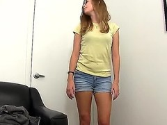 We got hot Nineteen year old Amber stopping by the office. Shes marvelous priceless be fitting of a plane Jane looking gal. Good milky skin. Fascinating tiny pantoons with Heraldry sinister nipples. Taut arse and pussy. Enjoy!