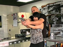 Gin just wishes smth to protect herself with, so what greater amount excellent place to look than a gun store But this babe receives greater amount than this babe bargained for: this babe meets a fresh man. Exalt is in the air.