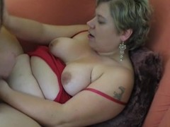 Bulky non-professional Milf homemade hardcore act