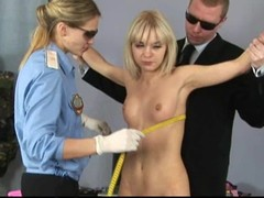 Sexy golden-haired acquires a peculiar gyno exam