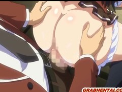 Bigboobs anime coed wetpussy pushing and creampie