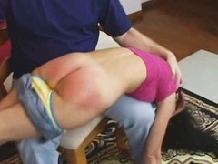 Spanked until her a-hole is raw