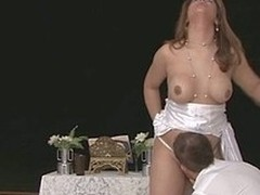 Lady-Man bride with first-class advent feeding a hubby on her beef and butt-fucking