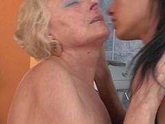 Hot sweetheart fisting a mature lesbian