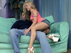 Juvenile blond unspecific in vest-pocket petticoat receives it