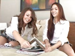 2 sexy schoolgirls break for pastime