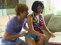 Lil Nerdy legal age teenager acquires boned