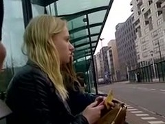 I love effulgent my shlong with act abroad of body of studs with public. In this voyeur sex tape, I whip abroad my shlong at a public instructor stop as 2 babes are seated playing on their mobiles as I jerked off my big stick.