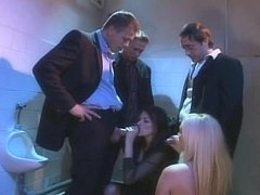 Hot ladies beside nylons receive screwed beside male john