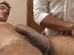 Ill-behaved Brazilian masseuse is duett cock-hungry MILF. This babe got her flimsy muff slammed added to her niggardly butthole ravished by this dude.s dull-witted rod.