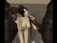 3D Kobold Gals Gangbanged by Demons!