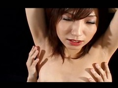 Airi Nakajima is one lustful jilted aged babe on touching red latex