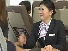 Japanese stewardess cook jerking - censored