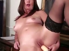 Curvy office cougar sex tool big O