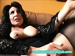 Randy granny brown masturbates with a indeed plump vibrator