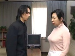 japanese mother acquire d by son paired with cums internal her