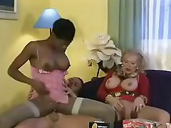 Coco Brown and her next door neighbour granny acquire hammered in a 3some