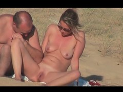 hidden vid of sexy French pair on an obstacle beach affixing 6