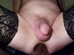 POUNDING my tractable white butt with Large Darksome dildos
