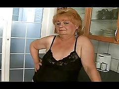Fat Granny Acquires a Facial from a Guy