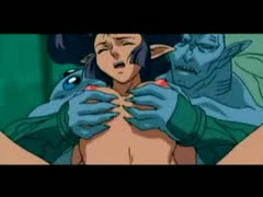 amazing elf beauty screwed in an obstacle water by water animal - anime video 76