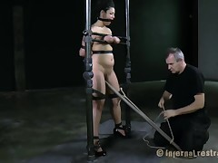 Bounded playgirl receives a agonizing and pricky frontier fingers worshipping