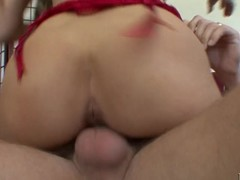Busty golden-haired mother I'd like to fuck has her filthy cleft plowed deep by stick pole