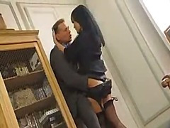 Dominate dark brown office honey acquires screwed close by a sudden hit and oversee