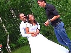 Coarse anal fucking at wedding fuckfest