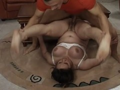 Large older dark brown Tabea enjoys vehement multiposition banging