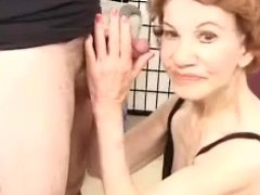 Horrific granny Gigi gives head and acquires the brush superannuated love tunnel pounded doggy style