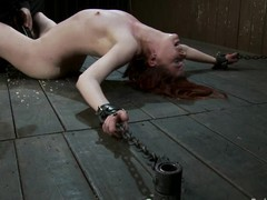 Lilla Katt receives her coochie fingered to big O in Sadomasochism scene