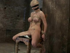 Breasty blonde sex flunkey have a fun some painful diligence
