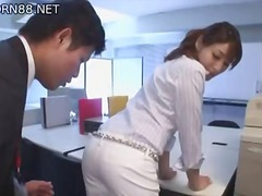 Jap Playgirl In Office