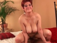 Of age redhead with a bulky a-hole rides a dig up