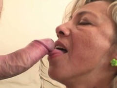 Sexy mother-in-law enjoys load of shit riding