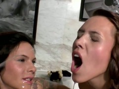 Smutty urinate drinking suntanned nubiles