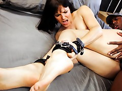 Sexy Bobbi Starr, On all sides Fastened Up, Up Fuck A Extensive Black Chap's Ramrod