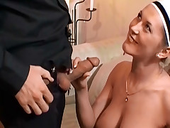 Sex Irish colleen gets the brush vagina licked at a dinner party